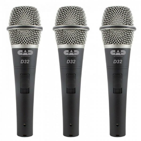 CAD Audio - CAD LIVE D32 DYNAMIC VOCAL MICROPHONE - 3 Pack - D32X3